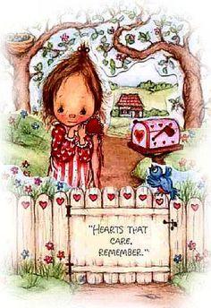 Artista Texana (????-1987)   Ha illustrato cartoline, biglietti augurali   e in Italia i suoi disegni sono stati usati    per le cop...