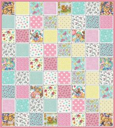 Teddy Bear Parade Quilt Kit~For Little Girl~Teddies & Hearts Fabric~QK#103