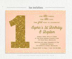1st birthday and christeningbaptism invitation sample Baptism
