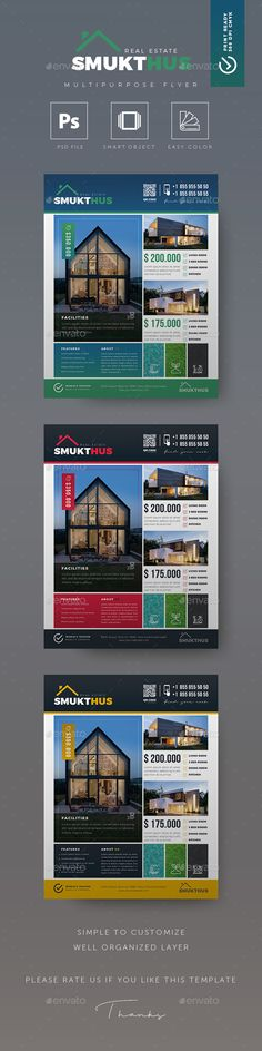 Real Estate Flyer Simple, Minimalist and Creative Real Estate Flyer Template is a great tool for promoting your real estate business also useful for a realtor or a real estate agent. You can use it for real estate listings, advertising homes or property for sale or houses for rent. Fully editable template, you can add images of your choice and change the texts.