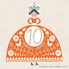 dottywrenstudio: advent calendar...day 10