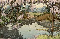 "Japanese Art Print ""Wisteria Garden (Fuji no niwa)"" by Yoshida Hiroshi ... http://www.amazon.com/dp/B01EPU7N4Q/ref=cm_sw_r_pi_dp_qvaixb1CDRT4P"