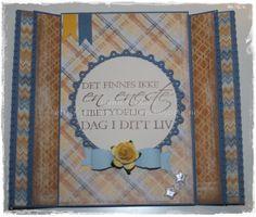 Bursdagskort, tryllekort, Maja Design, papirbretting, paperfolding, scrapbooking, scrapbook, papir, paper