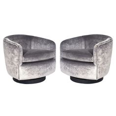 Milo Baughman Chairs. Modern Swivel ...