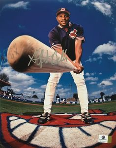 Albert Belle Cleveland Indians Hand Signed Autographed 8x10 Photo
