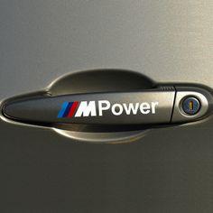 OTOKIT 4 PCS M Puissance De Décalque de Voiture Poignée De Porte Autocollant De Voiture Style de Décoration pour BMW Couverture M3 M5 X1 X3 X5 X6 E36 E39 E46 E30 E60 E92