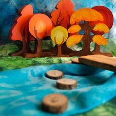 Wooden Toy PlaySilk Creek and Natural door TheEnchantedCupboard