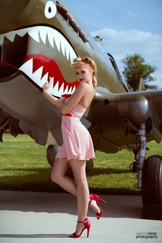 Aviation Pin Ups - Sharkmouth