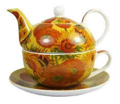 Vincent Van Gogh Sunflowers Fine Art Design Fine China Tea For One Set