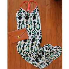Ivy printed high low maxi dress! Perfect for summer. Fashion, outfit, ootd, lotd, fun