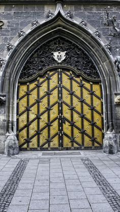 Fancy door - Munich, Germany, you know your going into something amazing with a door like this at the Front!