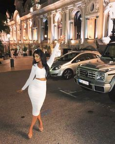 Night Out, White Dress, Two Piece Skirt Set, Bodycon Dress, Glamour, Lady, Skirts, Instagram, Dresses