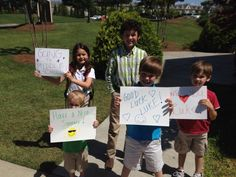 Fans cheering Luke on as he is promoted from Grade School to Middle School.