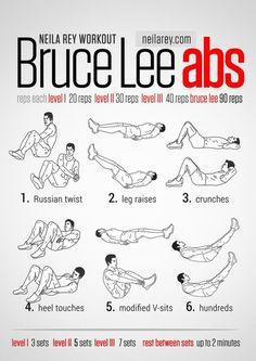 Les abdos de Bruce Lee
