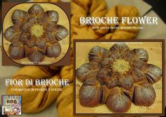 Sweet and That's it: Brioche Flower with Spiced Prune Mousse - Fior di Brioche con Mousse di Prugne Speziata Baguette, Mousse, Dessert, Croissants, Spices, Yummy Food, Tutorials, Bread, Baking