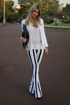 Essas calças flare são maravilhosas!!!