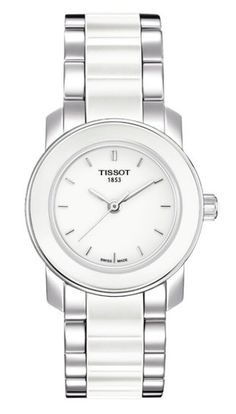 Tissot Womens Cera SilverTone Ceramic Watch     Find out more about the  great product at the image link. c6714290e0f