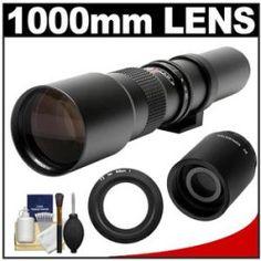 Best Reviews Rokinon 500mm f/8 Telephoto Lens & 2x Teleconverter with Cleaning Kit for Nikon 1 J1 J2 V1 Digital Cameras For Sale Online