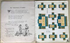 "1904 McLOUGHLIN Bros. Fold Paper Doll ""Model Book Of FURNITURE"" Chromelithograph 