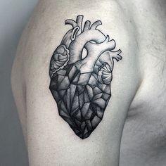 corazon geometrico tatto - Buscar con Google