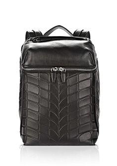Alexander Wang | Tire Inside-Out Backpack In Black With Rhodium #alexanderwang #backpack