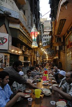 In Ramadan people should be generous. Many people are donating food, their are public Iftars for the poor. Another public Iftar for poor people. This one is in Zamalek, a nice neighbourhood in Cairo. - Not my Comment but i like the words Life In Egypt, Egypt Today, Modern Egypt, Visit Egypt, Cairo Egypt, People Of The World, Nile River, Ancient Egypt, Around The Worlds