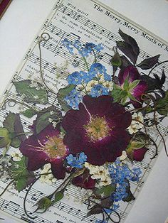 Pressed Flower Art Oshibana Mixed Media Landscape via Etsy Dried And Pressed Flowers, Pressed Flower Art, Dried Flowers, Art Flowers, Art Floral, Arte Popular, How To Preserve Flowers, Handmade Home, Amazing Flowers