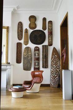 Tribal inspired modernist interior                                                                                                                                                                                 More #homeinteriordesignideas