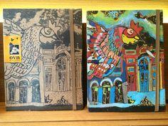 Caderno ovn e caderno ovn pintado à mão
