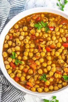 This is the best Chickpea Stew ever! It is hearty and comforting, tastes delicious with rice. I have been so busy lately, it's been a roller coaster ride since our move to Ohio. So many wonderful things are happening to our family and we feel so grateful for the abundance of blessings that are coming our way. I have been delaying putting up new recipes because it's been so difficult for me to decide which ones go on my website and which ones go in my cookbook.