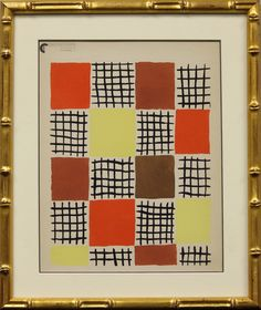 """Sonia Delaunay (1885-1979) Planche 7 pochoir from the portfolio """"Compositions, couleurs, idees"""" 1930! Image Sz: 11 12/""""H x 9""""W"""