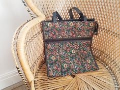 Your place to buy and sell all things handmade Boho Kimono, Shopper Bag, Vintage Floral, Louis Vuitton Monogram, Vintage Items, Tapestry, Shoulder, Pattern, Model