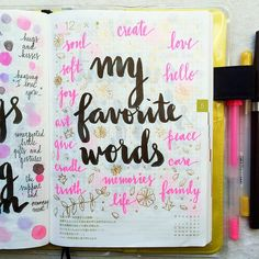 #listersgottalist day 12: my favorite words ❤️ #Hobonichi #journal #artjournal…