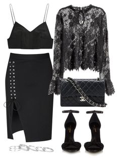"""Untitled #3574"" by theeuropeancloset ❤ liked on Polyvore featuring Glamorous, H&M, Alexander Wang, Chanel, Yves Saint Laurent and Kendra Scott"