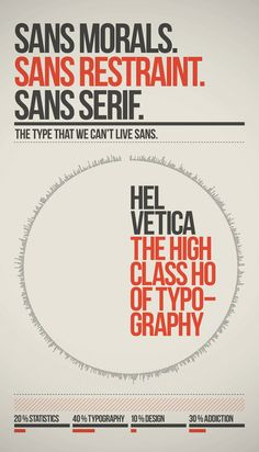 Helvetica - the high class ho of typography...