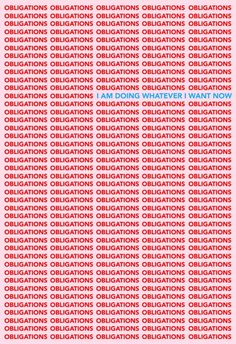 Tyler Spangler – Obligations / I am doing whatever I want now poster