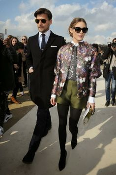 THE OLIVIA PALERMO LOOKBOOK By Marta Martins: Paris Fashion Week 2014 :Olivia Palermo with Johannes Huebl at Valentino