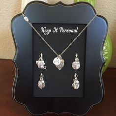 Keep it Personal necklace, letter charm, pendant charms and team charms
