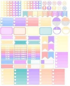 free planner stickers: Pastels