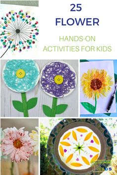 It's a great time of year to share 25 Flowers Hands-On Activities for Kids. via @growhandsonkids