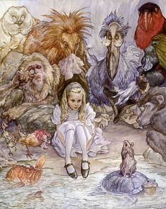 """Iain McCaig - """"Alice"""" ...... courtesy of a private collection ...... see it in person at the AT THE EDGE exhibition at the Allentown Art Museum in the summer of 2012!"""