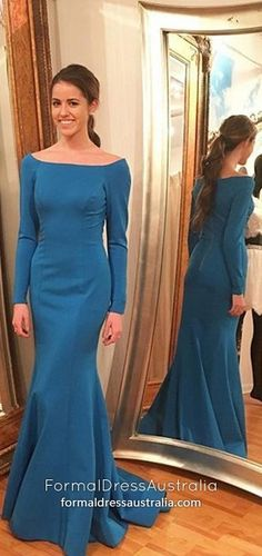 Long Prom Dresses with Sleeves,Blue Formal Evening Dresses Mermaid,Simple Military Ball Dresses Silk-like Satin,Long Sleeve Wedding Party Dresses For Women Prom Dresses Long With Sleeves, Prom Dresses Blue, Party Dresses, Homecoming Dresses, Graduation Dresses, Pageant Dresses, Prom Gowns, Bride Dresses, Maxi Dresses