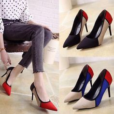 High Heels Stiletto Shoes Party Club Wedding Women Pumps Heels OL Dress  Shoes d363448c7bbe