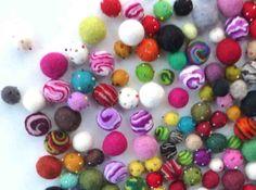 You choose   16 mixed felt balls by HayLofts on Etsy, $4.00