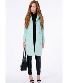 Hether Textured Tailored Boyfriend Coat - Coats & Jackets - Missguided | Ireland