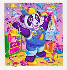 "RARE 2"" Lisa Frank New Painting Panda Sticker Mod | eBay"