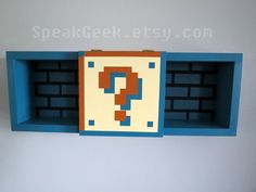 Super Mario Bros Shelf Shadow Box Shelf Underground by SpeakGeek