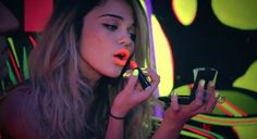 Fluorescent Black Light Lipstick.