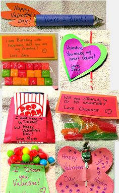 Homemade Valentines.  Cute and easy valentines.