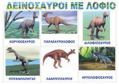 dreamskindergarten Το νηπιαγωγείο που ονειρεύομαι !: Οι δεινόσαυροι - πίνακες αναφοράς για το νηπιαγωγείο Dinosaurs